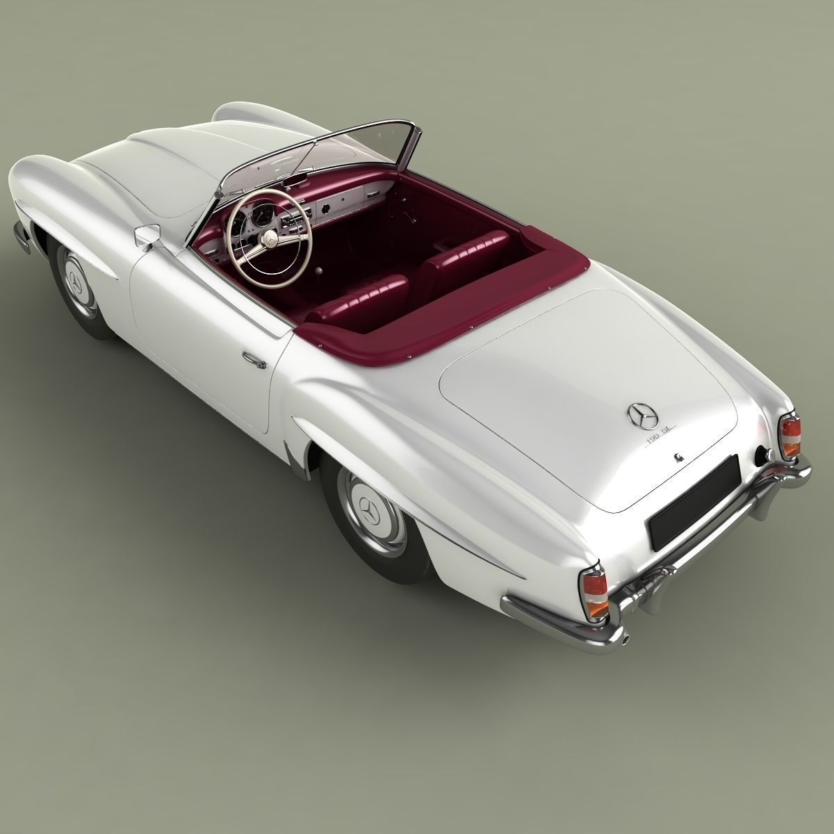 mercedes benz 190 sl 3d model max obj 3ds. Black Bedroom Furniture Sets. Home Design Ideas
