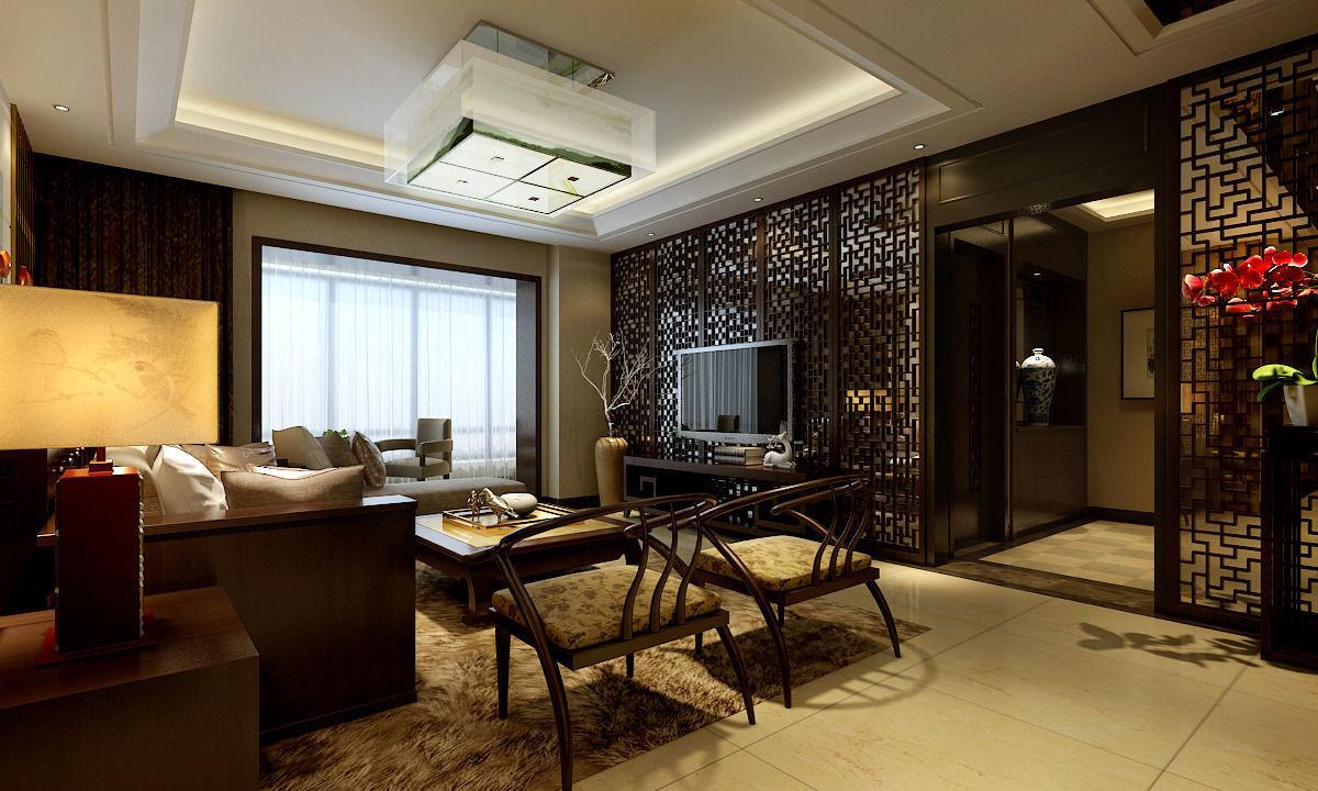 Realistic interior design 08 3d model max for Realistic living room ideas
