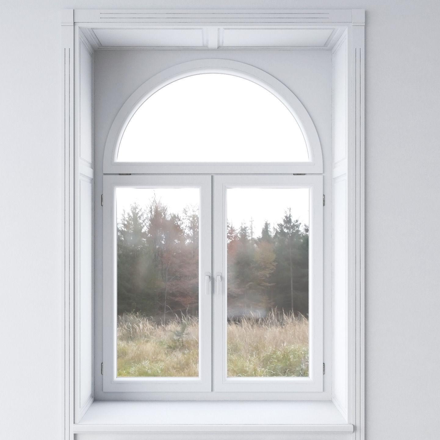 White window 3d model max obj fbx for Window 3d model