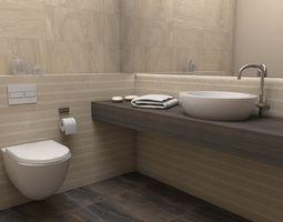 toilet 3D model Bathroom