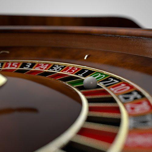 roulette 3d model obj 3ds fbx c4d stl 1