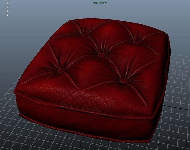sofa cushion texture 3d model low-poly ma mb tga 1