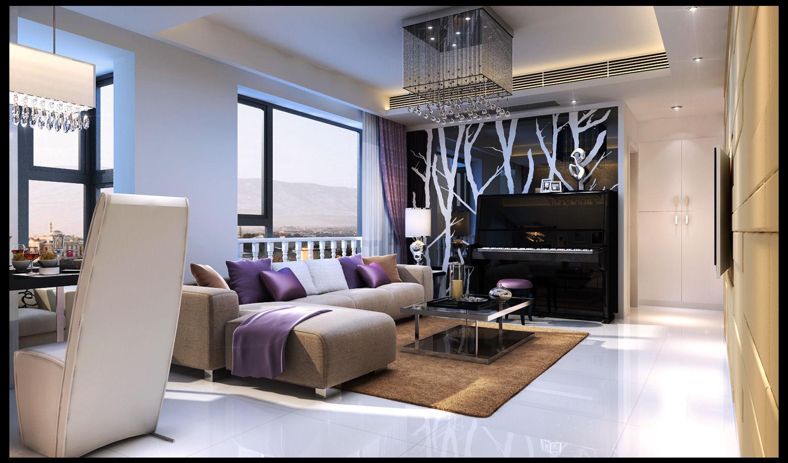 Realistic Living Room Design 82 3d Model Max