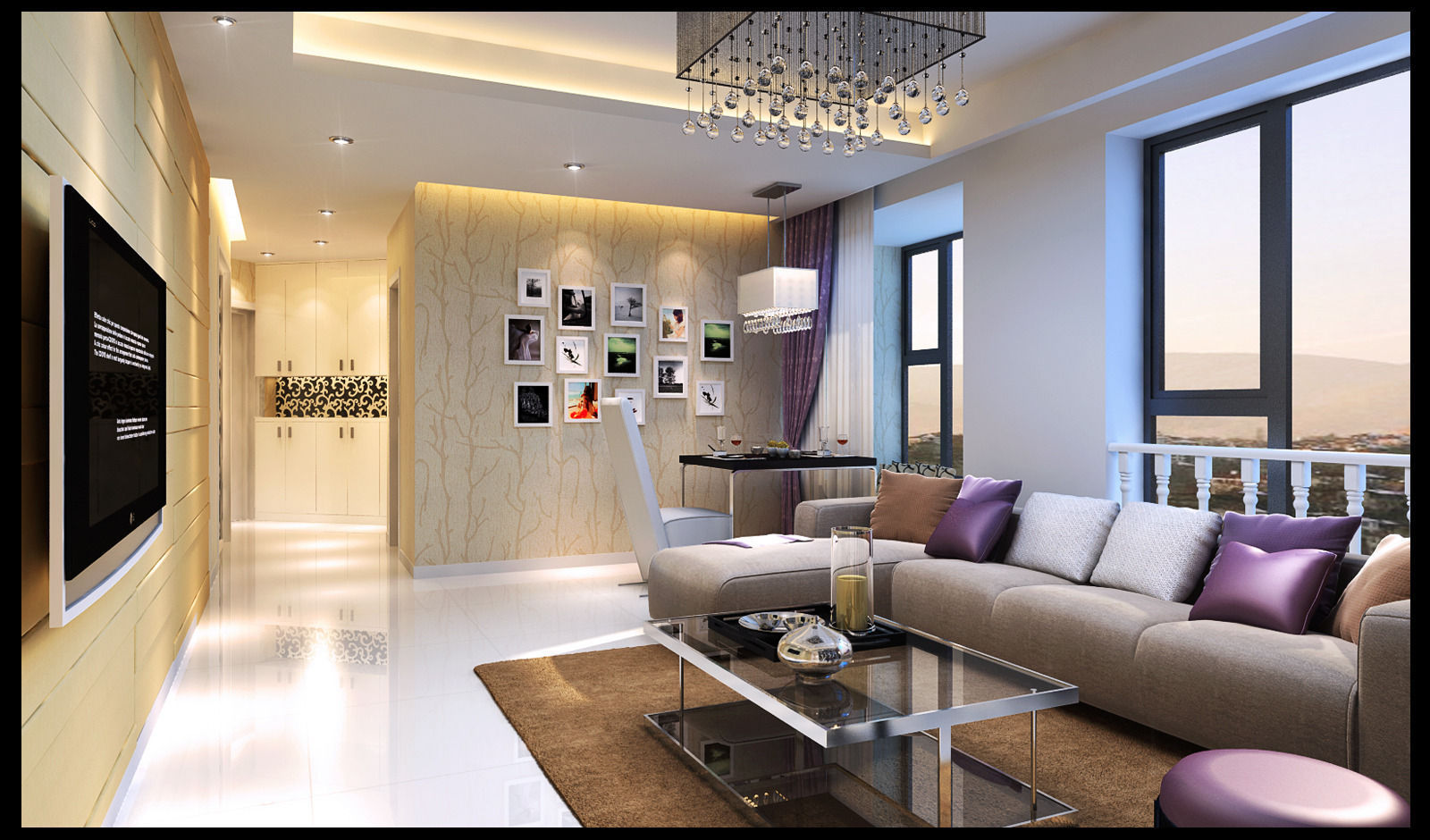 Realistic Living Room Design 82 3D Model .max
