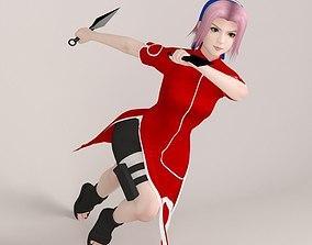 3D Sakura Haruno pose 09