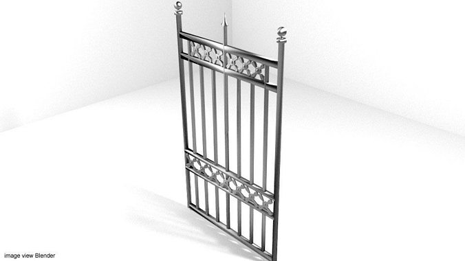 steel gate type 5 3d model obj mtl 3ds lwo lw lws blend dae 1