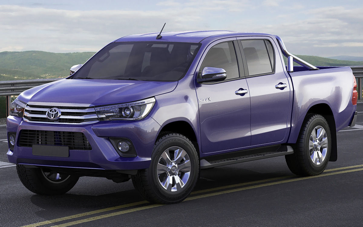 toyota hilux 2016 double cab 3d model max obj 3ds fbx c4d lwo lw lws. Black Bedroom Furniture Sets. Home Design Ideas