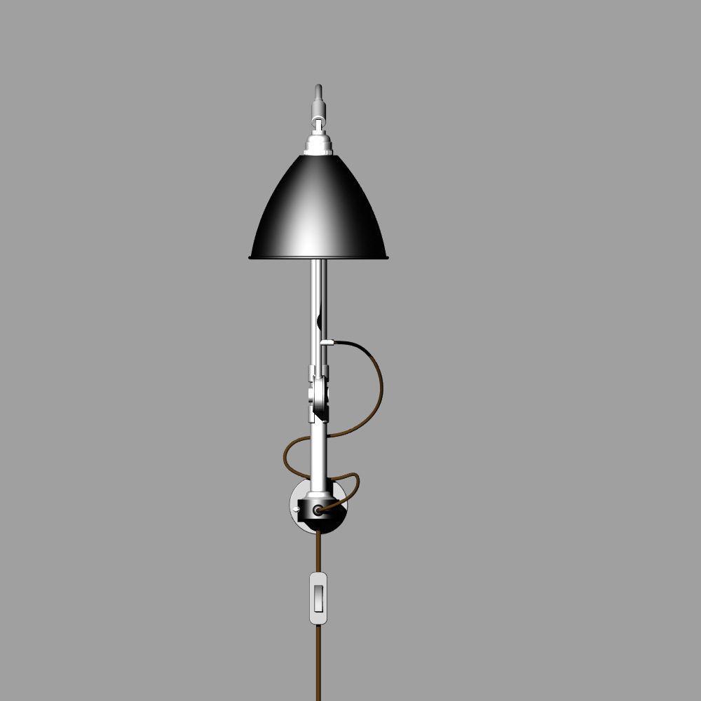 3d Wall Lamp Dwg : wall lamp BL 5 3D Model OBJ 3DS FBX 3DM DWG CGTrader.com