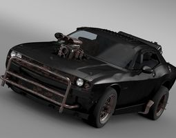 mad max fight interceptor dodge challenger 2015 3d model