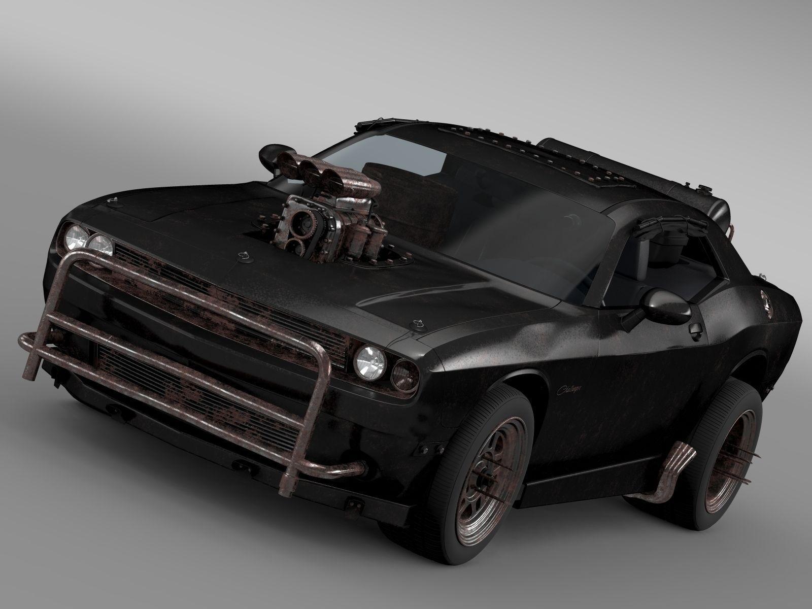 dodge challenger interceptor Mad Max Fight Interceptor Dodge Challenger 3D Model