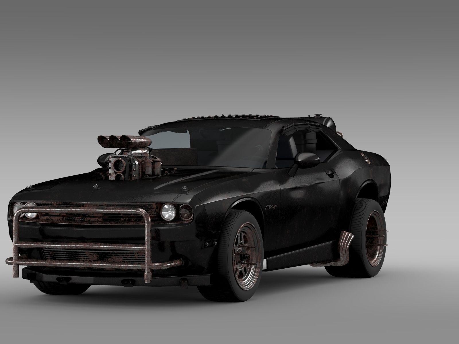 House Creator 3d Mad Max Fight Interceptor Dodge Challenger 3d Model