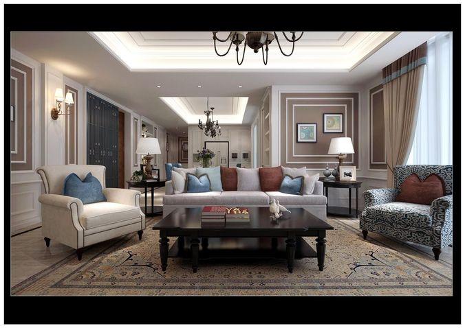 Realistic living room design 42 3d model max for Realistic living room ideas