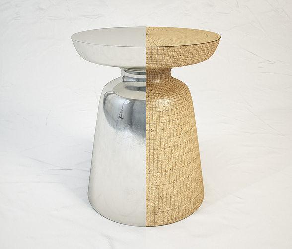 3d model west elm martini side table cgtrader. Black Bedroom Furniture Sets. Home Design Ideas