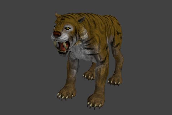 Sabertooth Tiger3D model