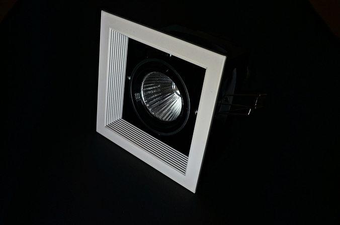 downlight led 3d model skp 1