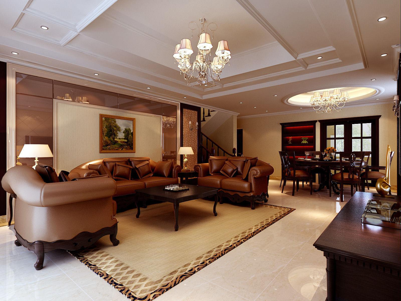 European Style Living Room 14 3d Model Max