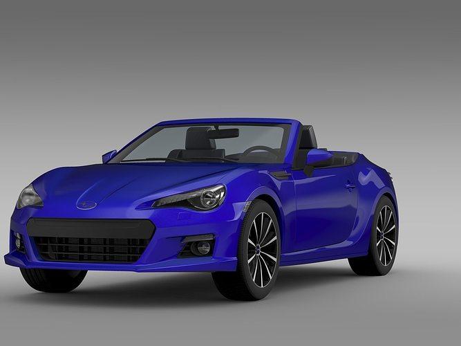 subaru brz zc6 cabrio 2015 3d model max obj mtl 3ds fbx c4d lwo lw lws 1