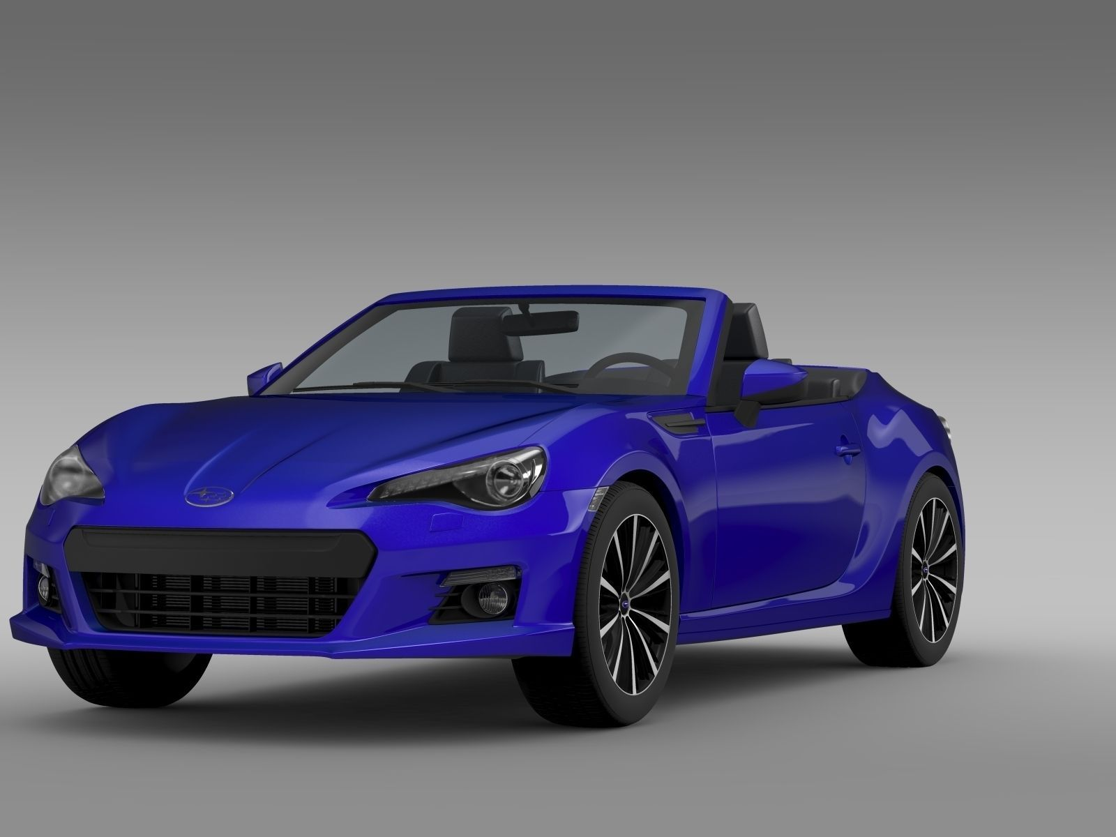 subaru brz zc6 cabrio 2015 3d model max obj 3ds fbx c4d lwo lw lws. Black Bedroom Furniture Sets. Home Design Ideas