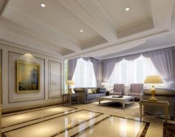European style living room 22 3D Model