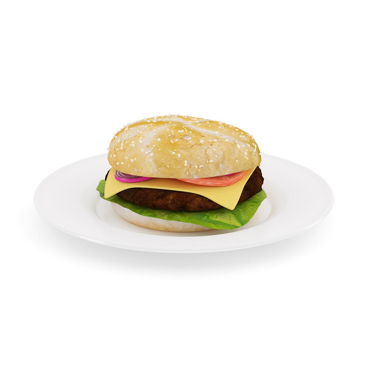 Burger on Plate 3D Model max obj fbx c4d CGTradercom : burgeronplatefbxc4dobjmaxb5d589d8 655f 436a 8c02 451900944db9 from www.cgtrader.com size 1200 x 1200 jpeg 79kB