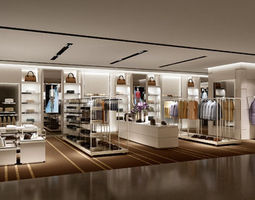 3d model clothing store design 12