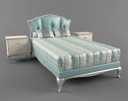 3D model The Bed and bollard Frari