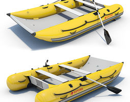 Inflatable Boat 03 3D Model