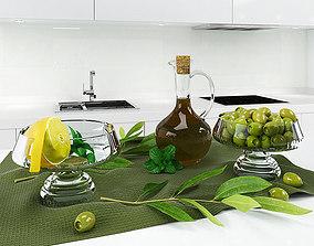 olive 3D model