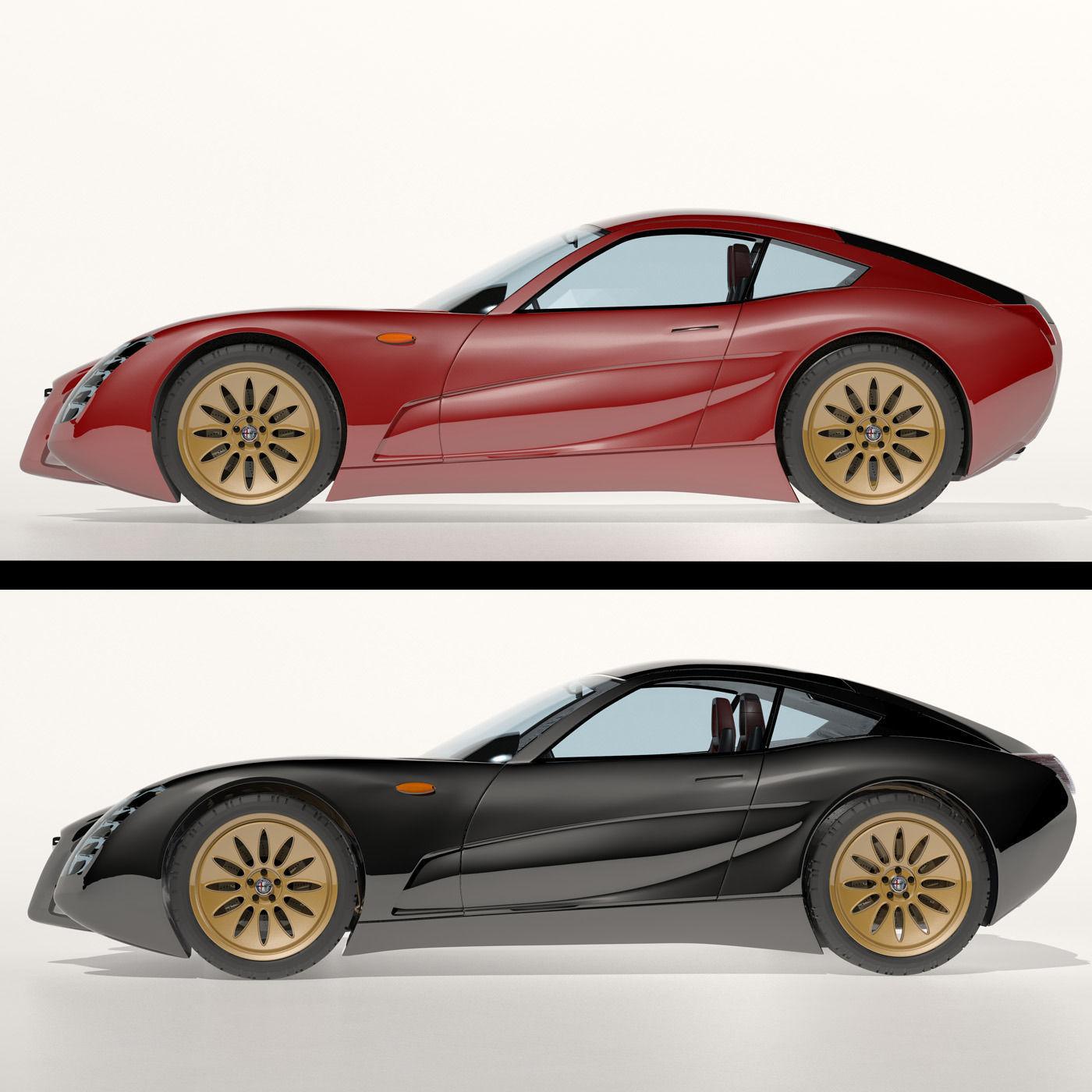 Alfa Romeo 1900 SS Concept 3D Model MAX OBJ FBX MTL
