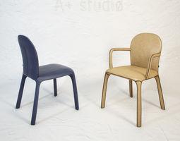 3d poltrona frau amelie chair by claudio bellini