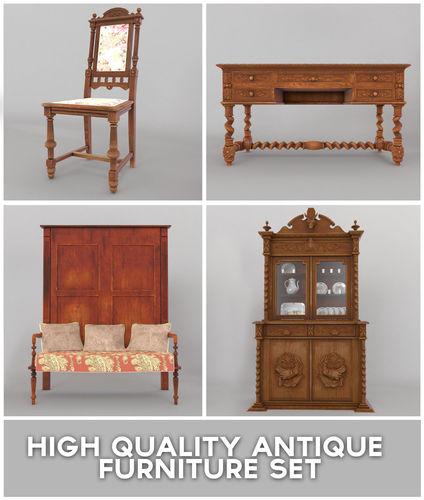Antique Furniture Set3D model