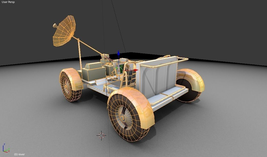 Moonrover 3D Model Game ready .obj .3ds .blend .dae .mtl ...