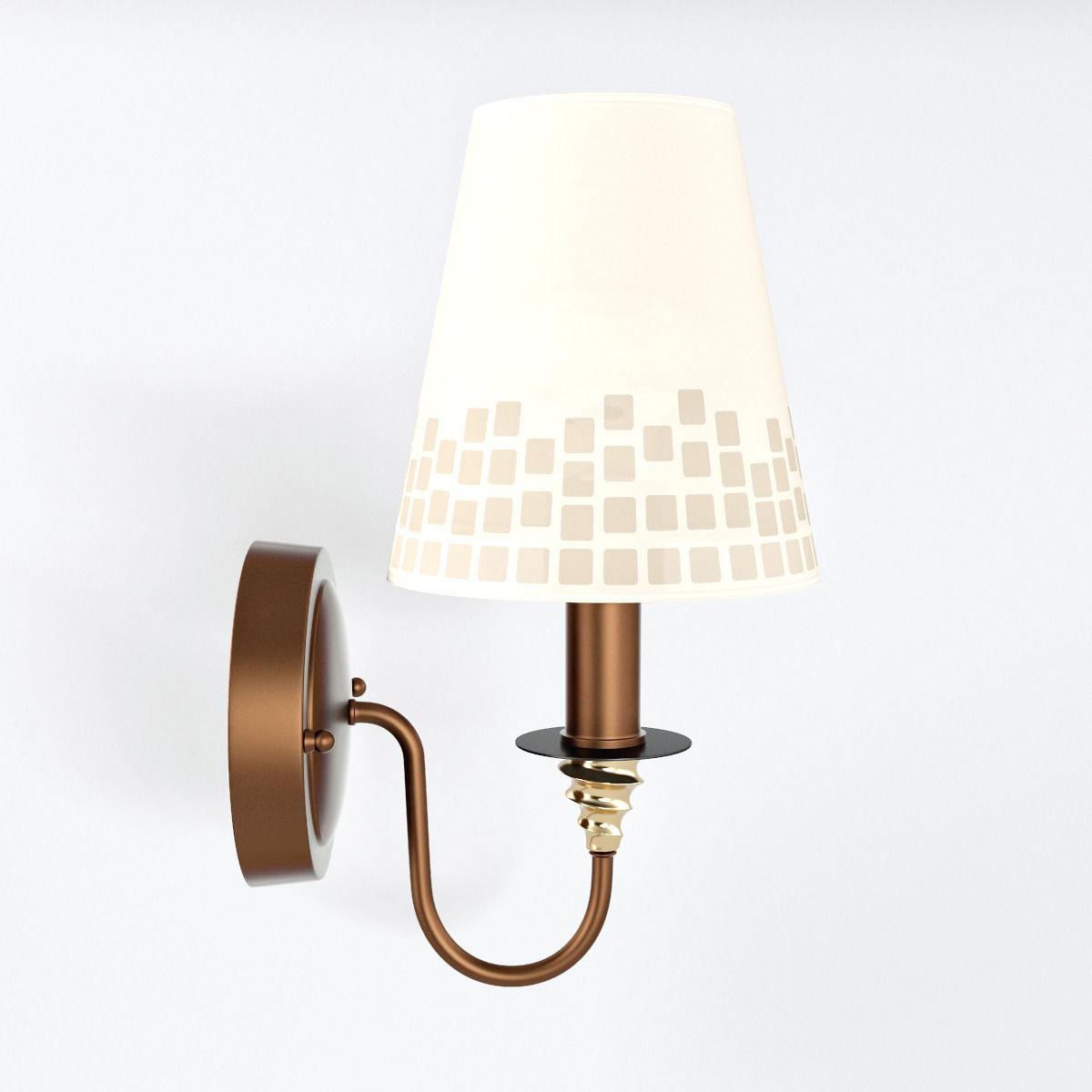 Cozy Wall Lamp 3D Model .max