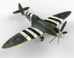 Supermarine Spitfire Mk XIV 3D Model