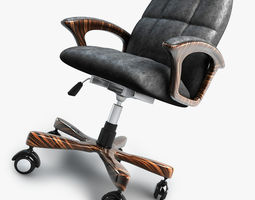 3D model Office chair on wheels