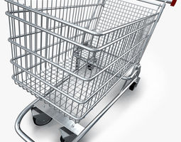 realistic shopping cart 3d