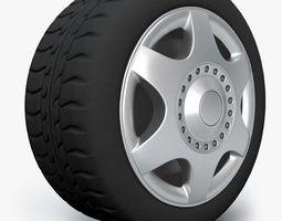 VW Wheel 3D Model