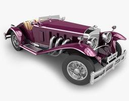 Mercedes SSK with Engine 3D Model