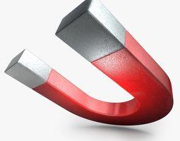 Realistic Magnet 3D Model