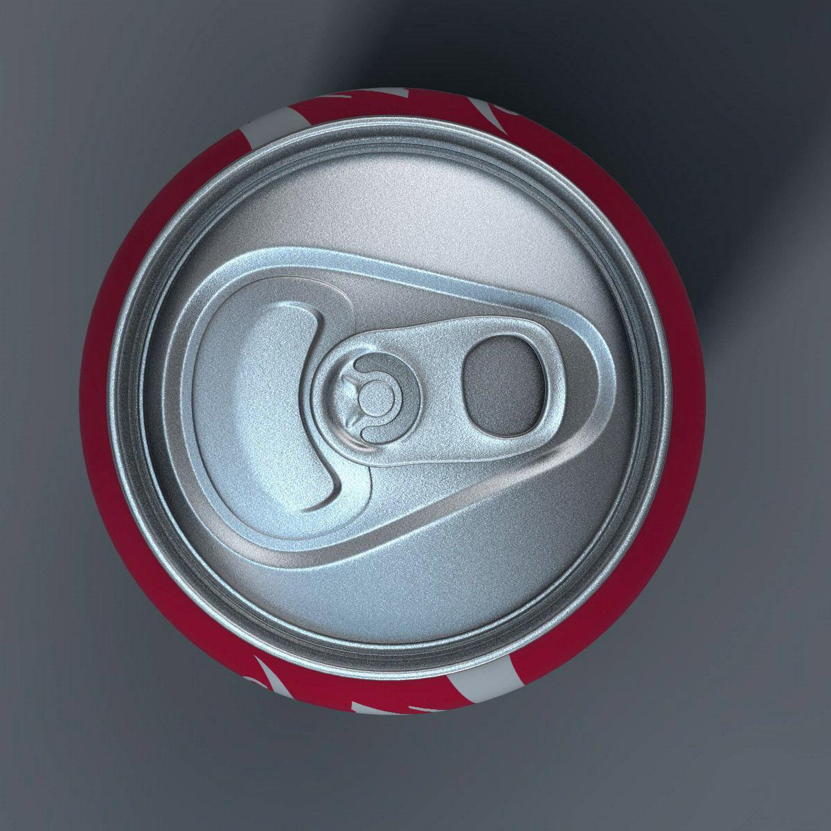 Realistic Coca Cola Can 3d Model Obj 3ds Fbx C4d