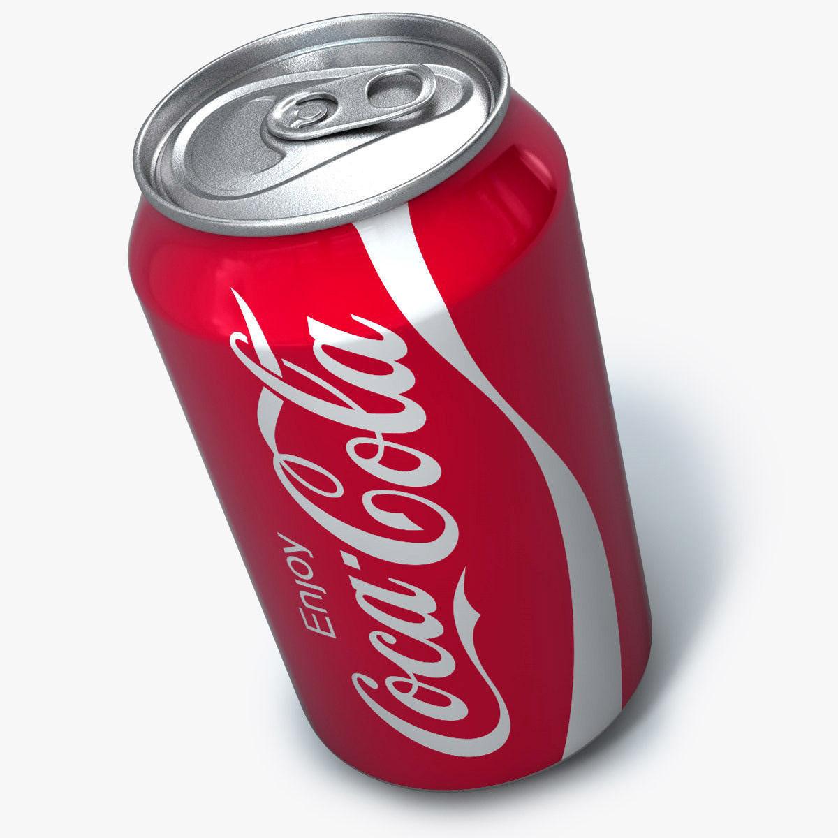 Realistic Coca cola can