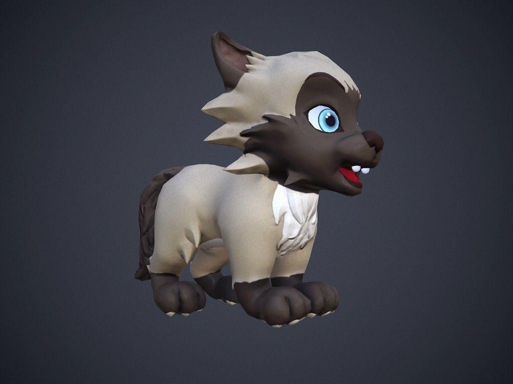 3d asset animated cartoon talking cat cgtrader