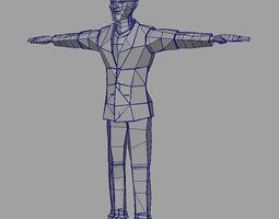 3D model Paper Man