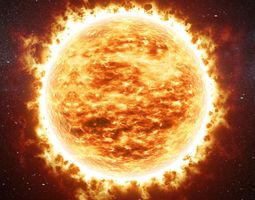 Animated sun v01 3D model