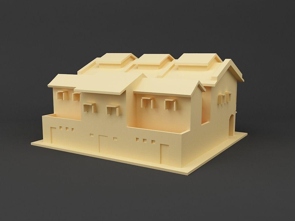 Shop house Singapore 3D Model 3D printable STL   CGTrader.com