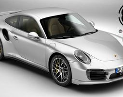 porsche 911 turbo s 2014 3d
