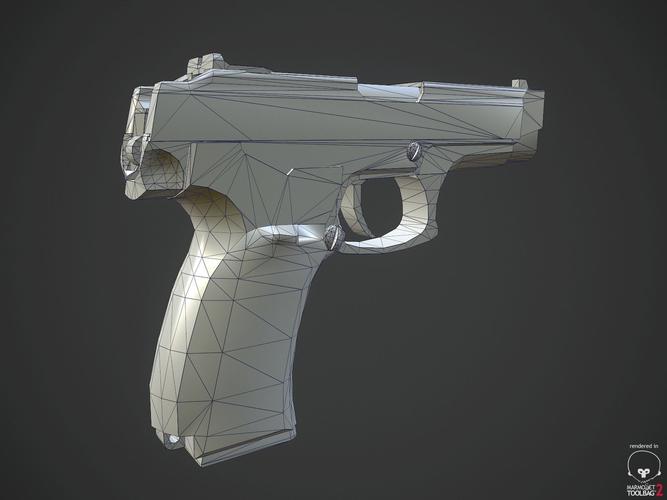 MP-443 Grach  Low-poly  3D model