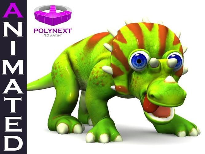 Cartoon Triceratops3D model