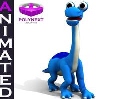 Cartoon Diplodocus Dinosaur 3D model