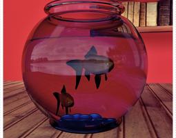 Fish Model with Fish Jar 3D